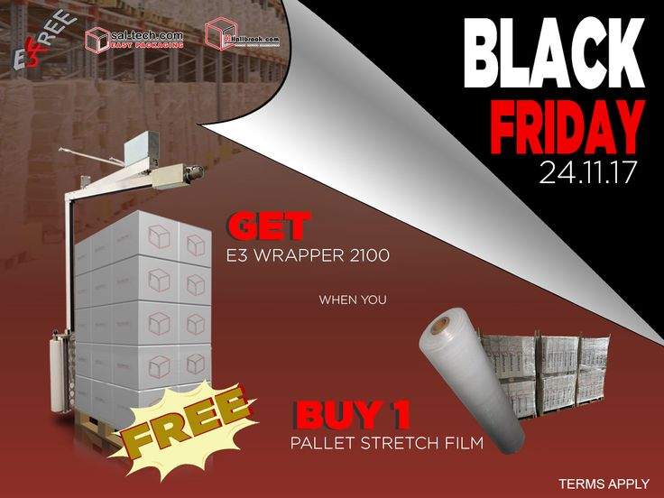When we said FREE, we meant at 0.00DKK! GET YOUR E3 WRAP now! You can still catch our Black Friday Deal! Log onto our website! #E3Wrap2100forFREE #FREEPalletWrappingMachine #E3wrap43 #BlackFridayDeal #BlackFriday #FREE