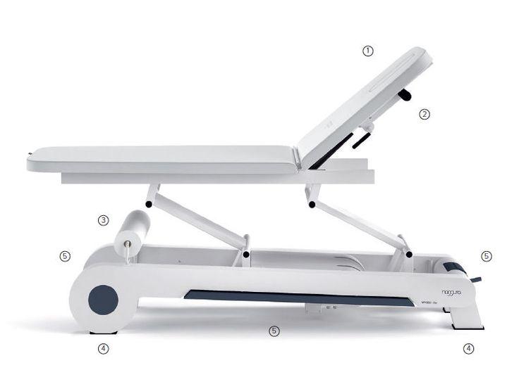 Lettino fisioterapia osteopata elettrico 2 segmenti 1 motore massaggi medico