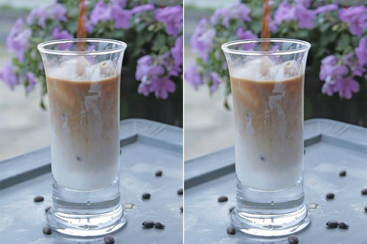 Iskaffe med kondenseret mælk smager skønt og er perfekt cremet, og så er det nok verdens nemmeste opskrift på iskaffe.