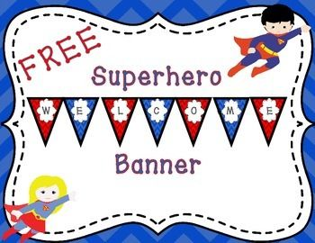 Welcome your students to school with this superhero themed welcome banner!Make…