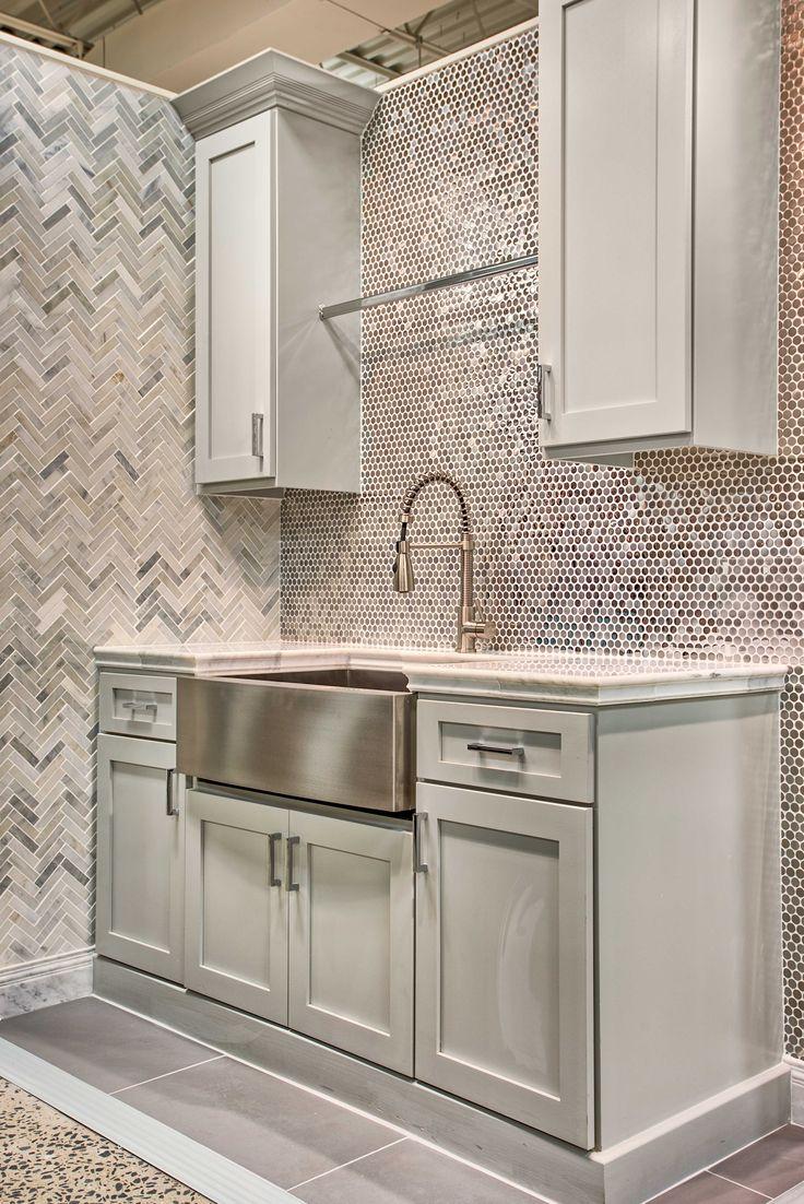 144 best kitchen images on pinterest mosaic mosaics and island kitchen backsplash tile stainless steel penny mosaic tile httpstileshop dailygadgetfo Images