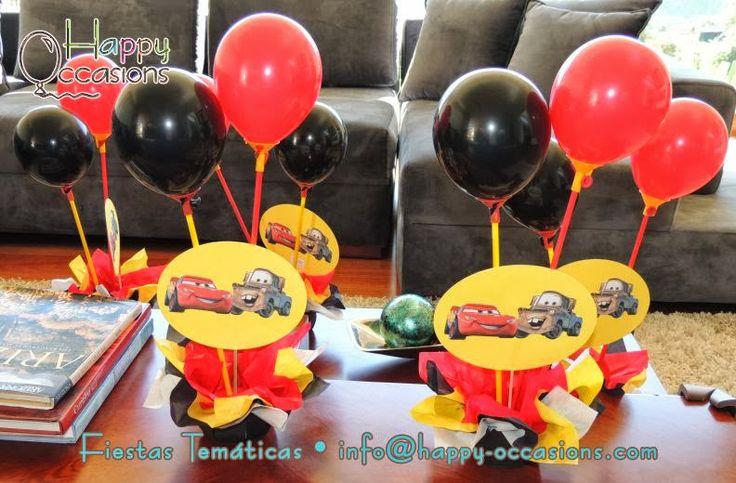 Centros de mesa www.happy-occasions.com | fiestas infantiles cars ...