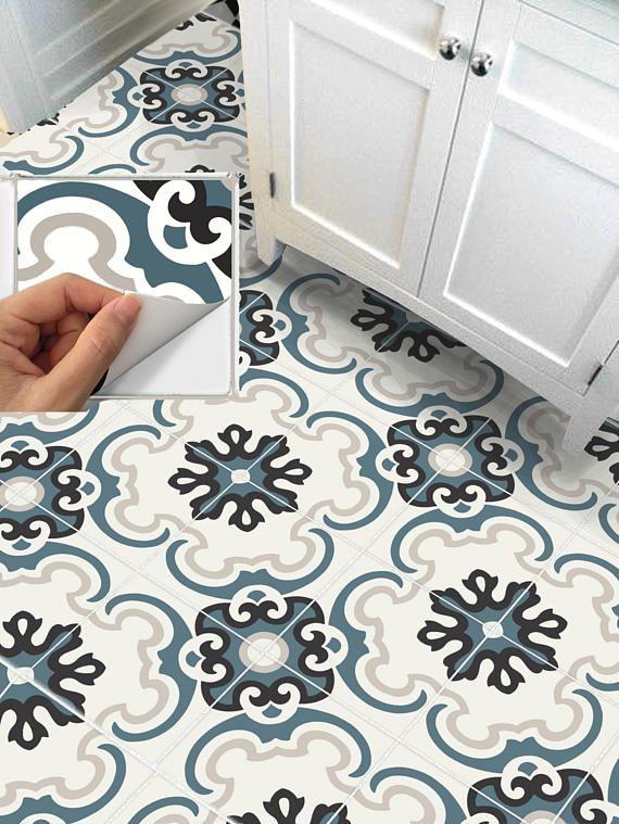 Tile Sticker For Kithchen Backsplash Bath Floor Wall Etsy Wall Waterproofing Flooring Tile Decals