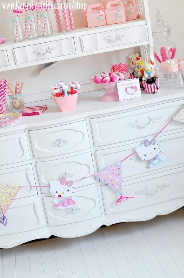 Hello Kitty Birthday Party via Kara's Party Ideas Ideas -www.KarasPartyIdeas.com-shop-164
