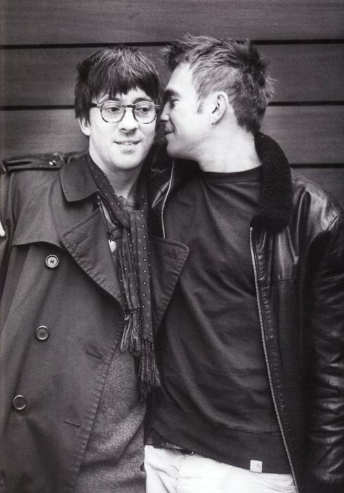 """We've been married for 22 years…"" - Graham Coxon on Damon Albarn.    I wish I have a long and intense friendship like these two."