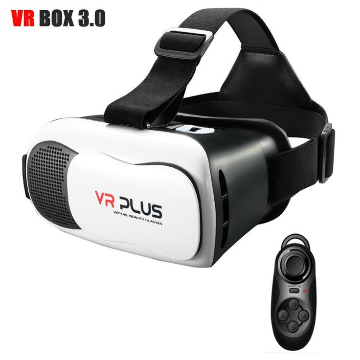 VR BOX 3.0 VR Plus Virtual Reality Goggles Coating Glass Lens Helmet 3D Glasses Headset for 4-6.5'phone   Bluetooth Remote