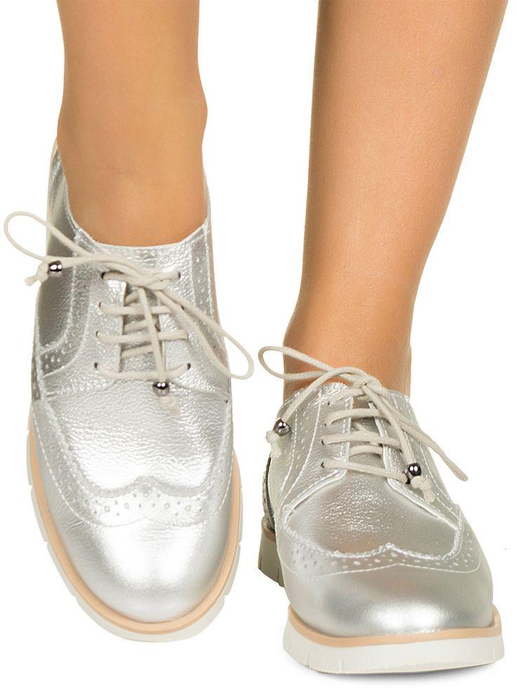 Tênis oxford prata Taquilla - Taquilla - Loja online de sapatos femininos