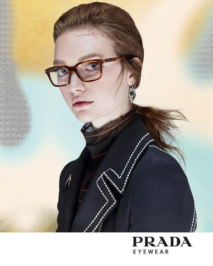 Gemma Ward for Prada Eyewear Campaign 2015 by Steven Meisel