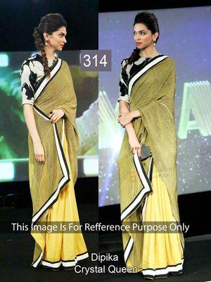 Nidhi Fashion Mahendi And Yellow Cotton Net Embrodairy Designer Saree Bollywood Sarees Online on Shimply.com