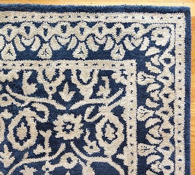 rug for dining room - navy blue