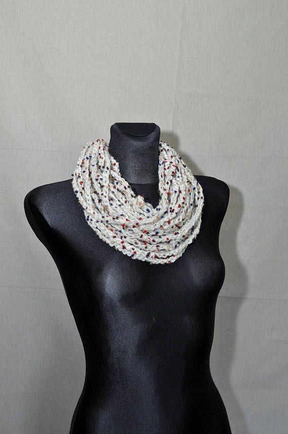 Crochet Scarf Infinity Scarf Grey Infinity Scarf Crochet #knitshawl #laceshawl #crochetscarf #knitting #handknit