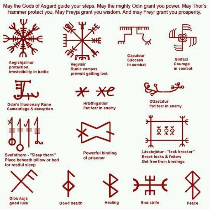 50 Best Viking Symbols Tattoos Images On Pinterest Symbol Tattoos