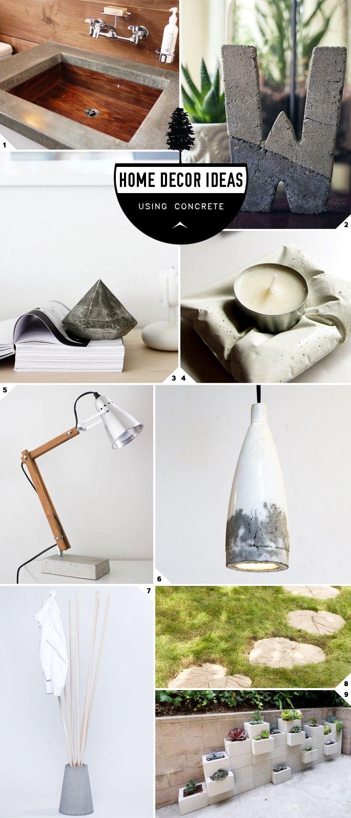Home Decor: DIY Concrete Ideas