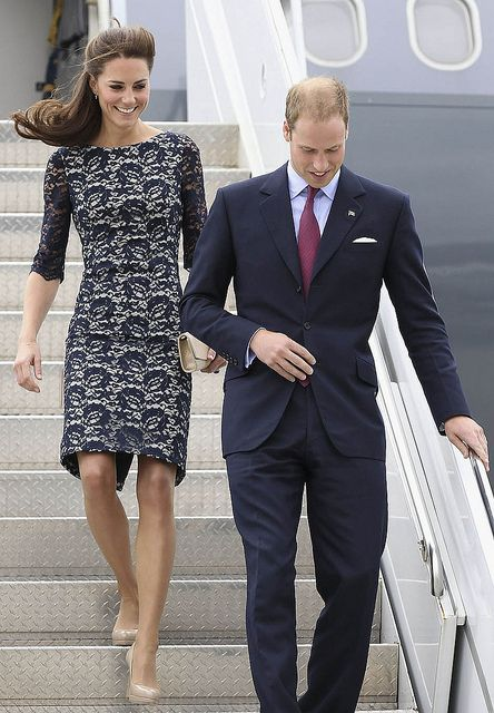 Royal Couple arriving to Ottawa Airport