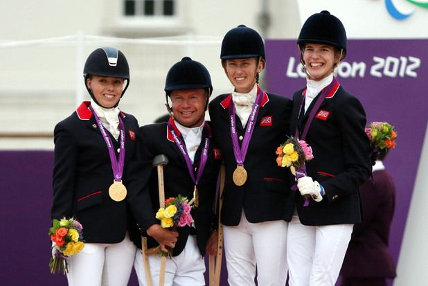 Sophie Wells, Lee Pearson, Deb Criddle and Sophie Christiansen - Equestrian - Dressage Individual Team