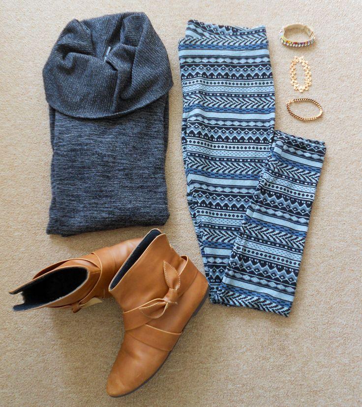 Patterned leggings ftw! #missmouse #winter14