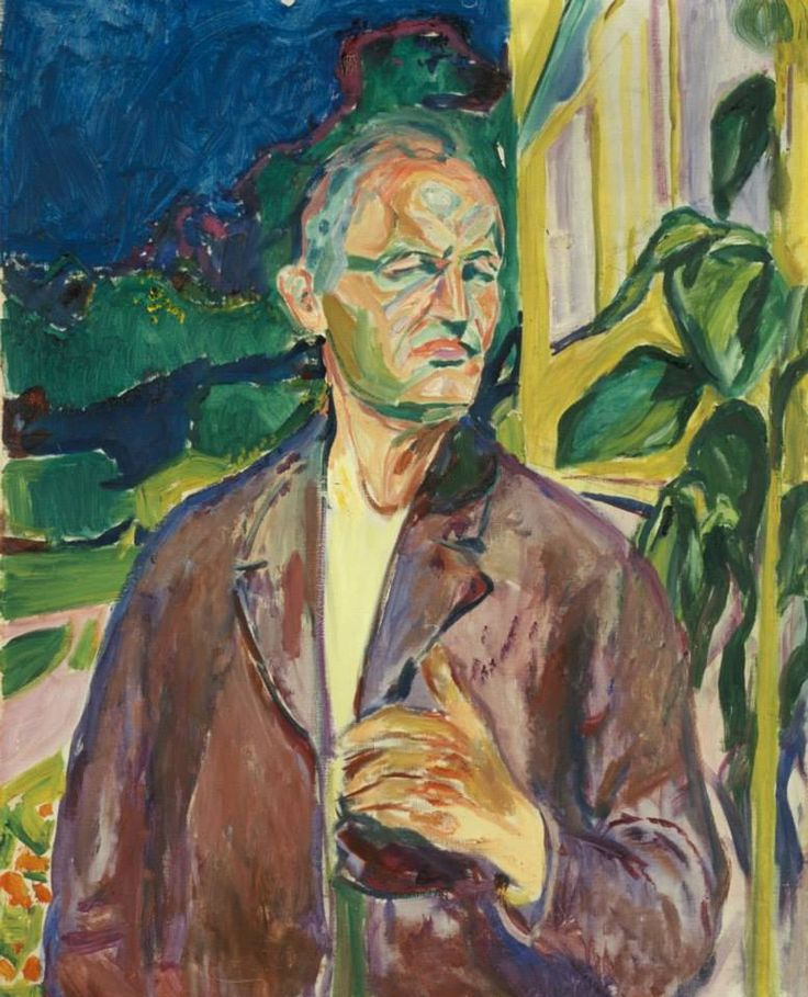 Edvard Munch, Self-portrait 1926