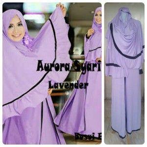 4-Model Baju Gamis Muslim Aurora -lavender