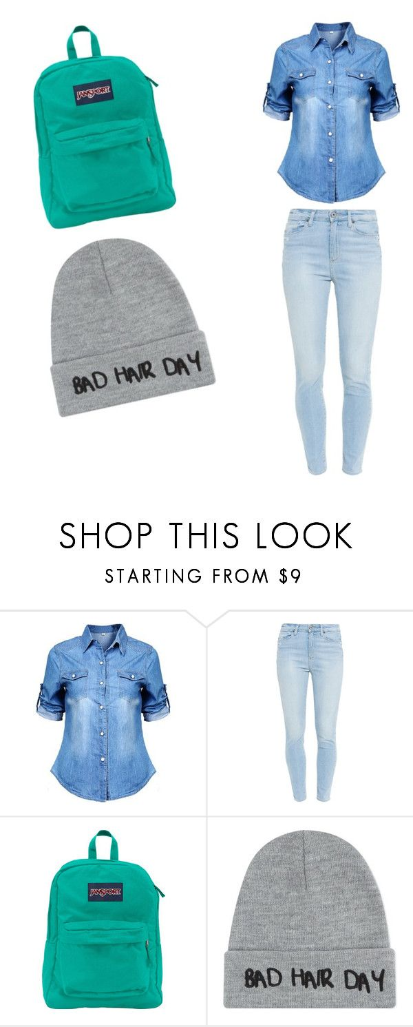 """""""School time"""" by lifebybya on Polyvore featuring Paige Denim, JanSport and Local Heroes"""