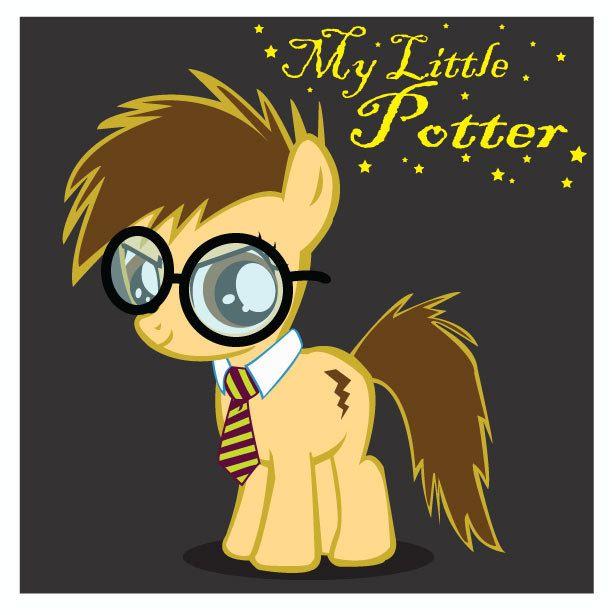 "My Little Potter - Original My Little Pony & Harry Potter Artwork 8.5"" x 8.5"" print. $6.00, via Etsy."