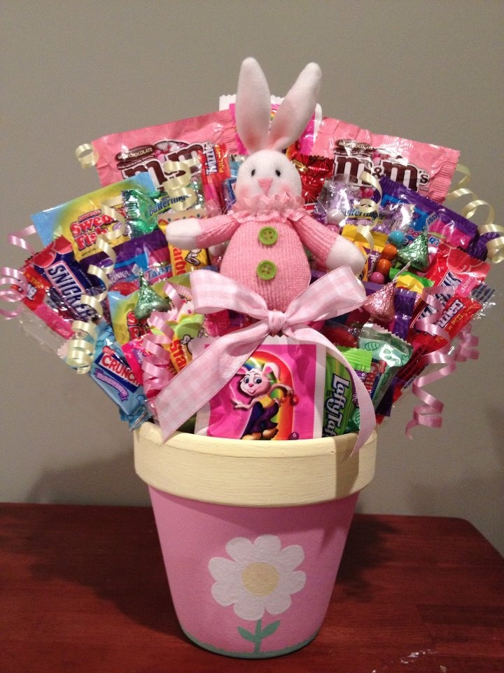 125 best gift baskets images on pinterest gift ideas gifts and easter gift in a terra cotta pot negle Gallery