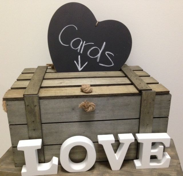 NEW Large Wooden Wood Shabby Beach Vintage Wedding Wishing Well BOX ...