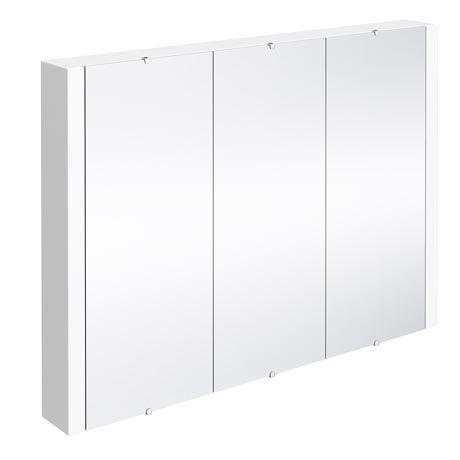 Turin 3-Door Mirror Cabinet (Minimalist White - 900mm Wide)