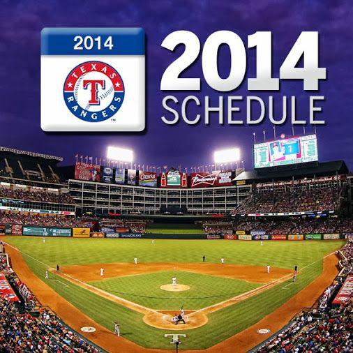 Texas Rangers 2014 Schedule