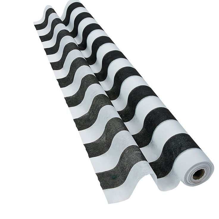 Black & White Striped Gossamer Roll - OrientalTrading.com
