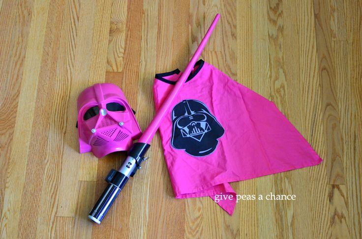 Give Peas a Chance: Darth Vader Costume (Pink). Easy diy with just buying a mask and painting it pink.