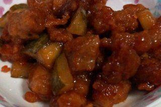 Foto de la receta de cerdo con salsa agridulce
