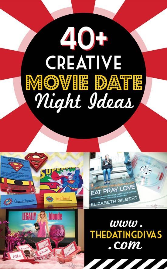 I can't wait to go on one of these creative movie date nights with my hubby! www.TheDatingDivas.com