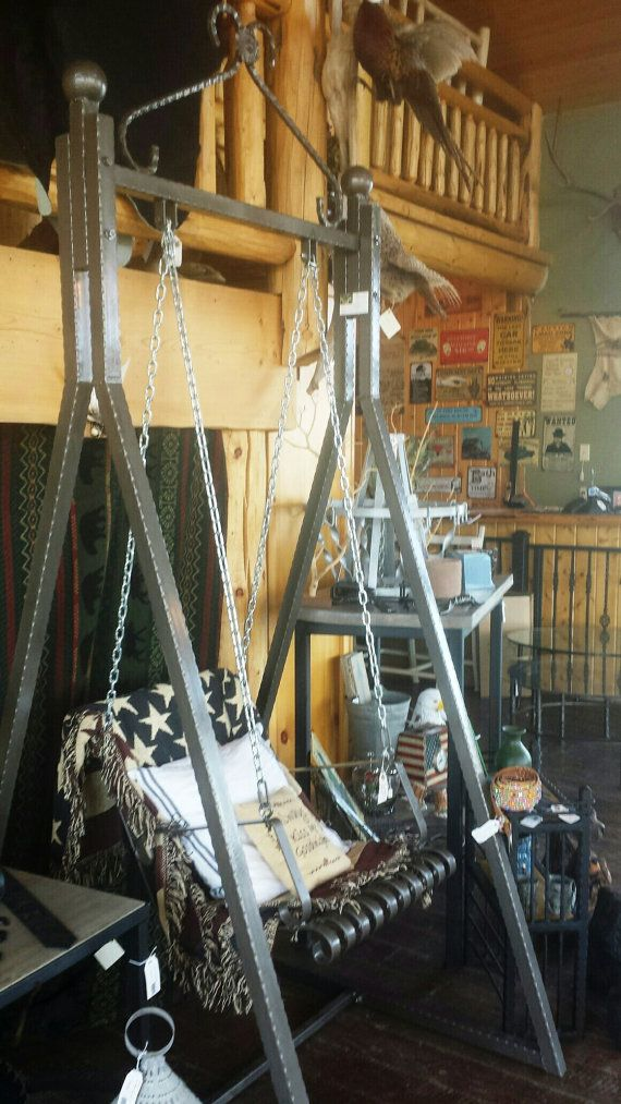 Hierro forjado artesanal Swing para uso por LAZYKWroughtIron