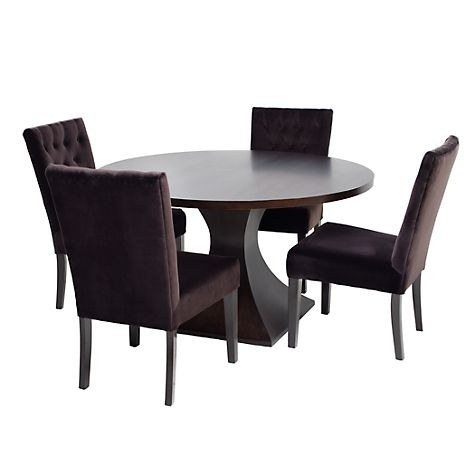 Z gallerie chic combo scallop dining table 4 lola for Z gallerie dining room chairs