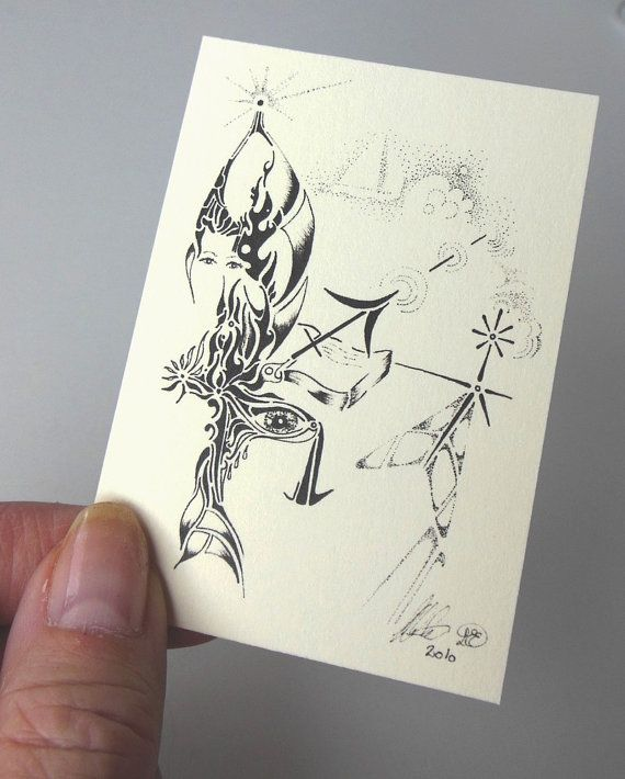 ACEO Sagittarius one of our 12 Zodiac by LoesManfredCreations