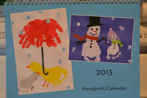 Handprint Calendar... great site for crafts with kids! in search engine type calendar cute ideas for each month.  She even took pictures then put them into a real calendar