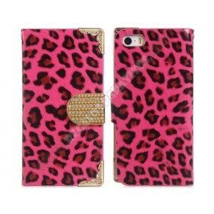 Novedad funda diseño leopardo rosa para tu iPhone 5 y 5S - Decora y protege tu telefono movil con este bonito accesorio. Es la Novedad deste mes funda diseño leopardo rosa para tu iPhone 5 y 5S, ademas tiene formato Cartera con huecos para Tarjetas y Billetes
