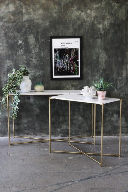 Carrara Marble Console Table - White Marble