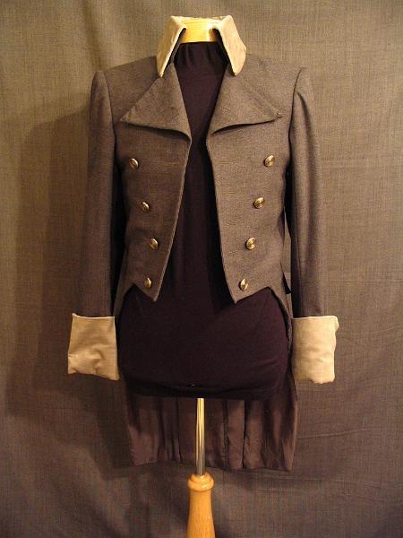 Coat Men's 1810, grey wool velvet