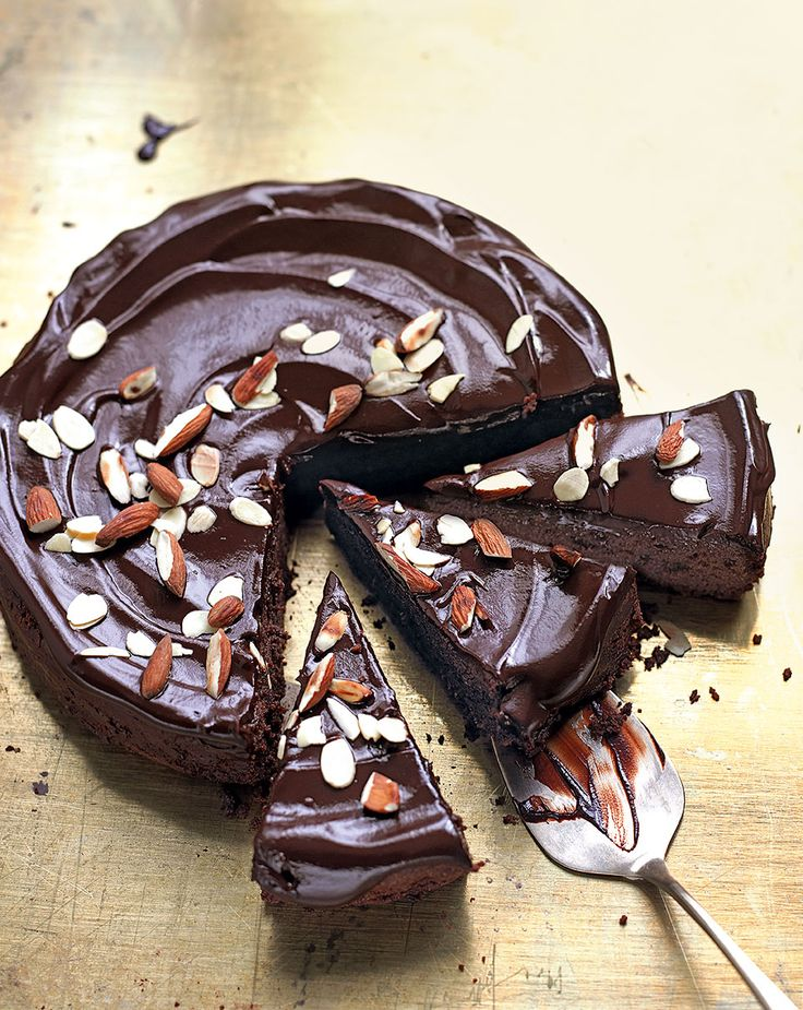 Enter chocolate heaven with this amaretto and almond torte – it's soft, gooey and with a gentle boozy note.