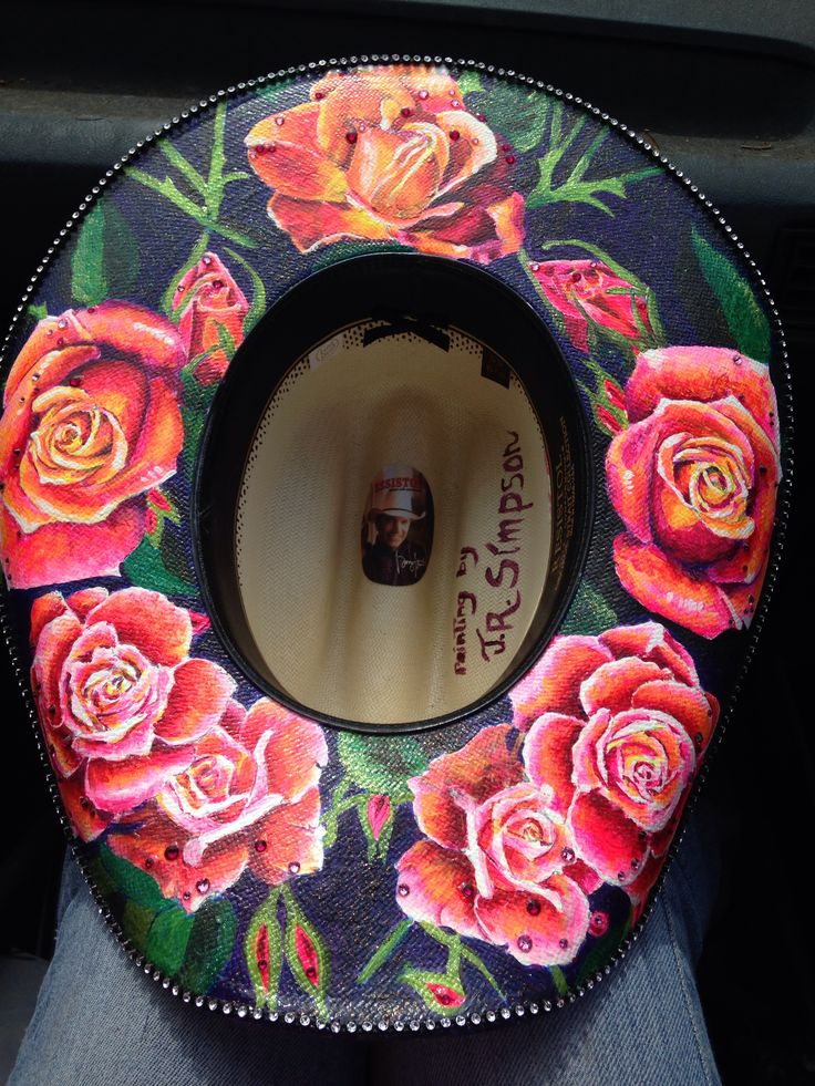 Custom painted cowboy hat! Contact me for info on how you can get yours painted for a good price!
