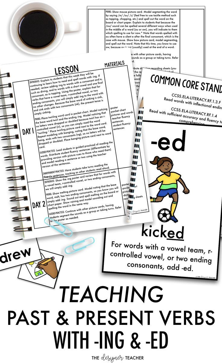 This Post Gives An Overview Of The Rules For Adding Ing And Ed To Present And Past Tense Verbs Perfec Teaching Upper Elementary Reading Inflectional Endings [ 1201 x 736 Pixel ]