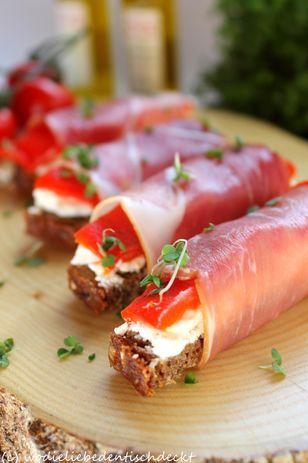 Brot-Praline Rezept: Lake,Schafskäse,Eiweißbrot,Schinken