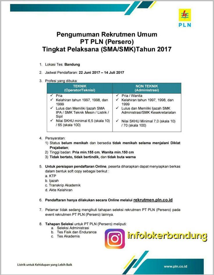 Lowongan Kerja PT. PLN ( Persero ) Juli 2017