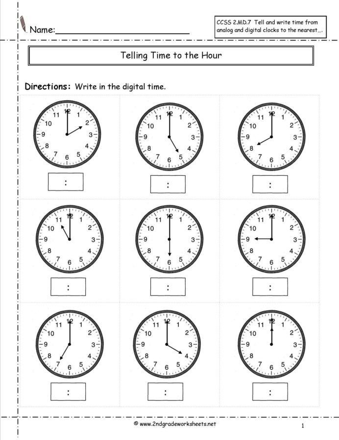 Fun Math Worksheet For Kindergarten Telling Time Worksheets Half Hour Kids Math Free 2 Free Printable Math Worksheets 2nd Grade Math Worksheets Time Worksheets