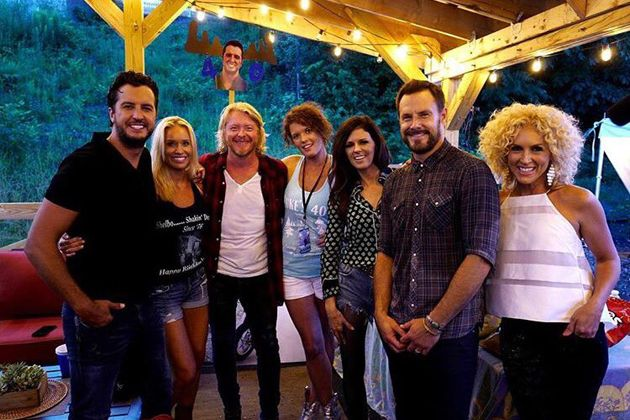Luke Bryan and Little Big Town | Luke Bryan 's wife Caroline joined forces with Dustin Lynch and ...