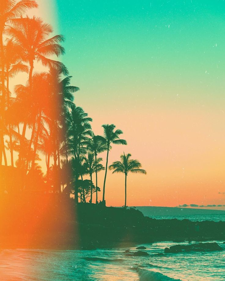 Sun glare, painted skies, island vibes, and beach vibe all ...