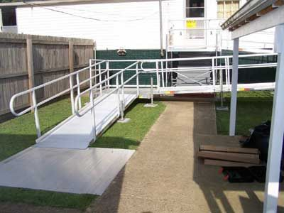 ADA Modular Wheelchair Ramp for Home or Business Use.  Meets ADA Ramp slope