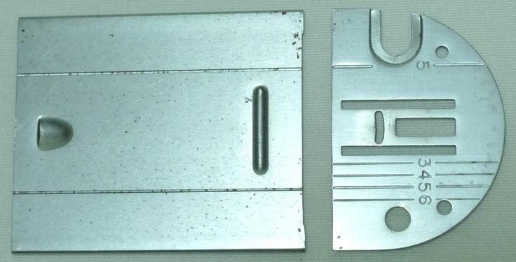 Original Vintage SINGER SIMANCO 317398 Zig Zag Throat Plate & Bobbin Cover Set by 3FTERS on Etsy