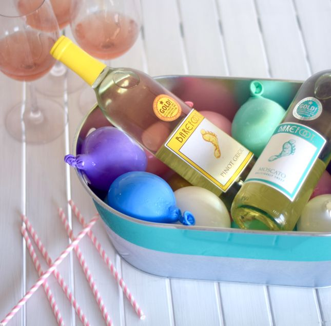 3 Ways To Serve Beverages At A Party Frozen Water Balloons To Keep Drinks Cold